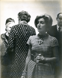 Marjorie Reed at the November 7, 1965, opening of the show at th